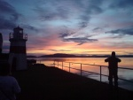 Sunset over Crinan Lighthouse