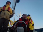 Taking the helm, Firth of Clyde