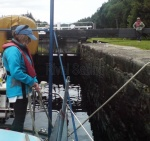 Stern line duty in the Crinan Canal