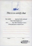 Day Sail Training certificate, pre-1996